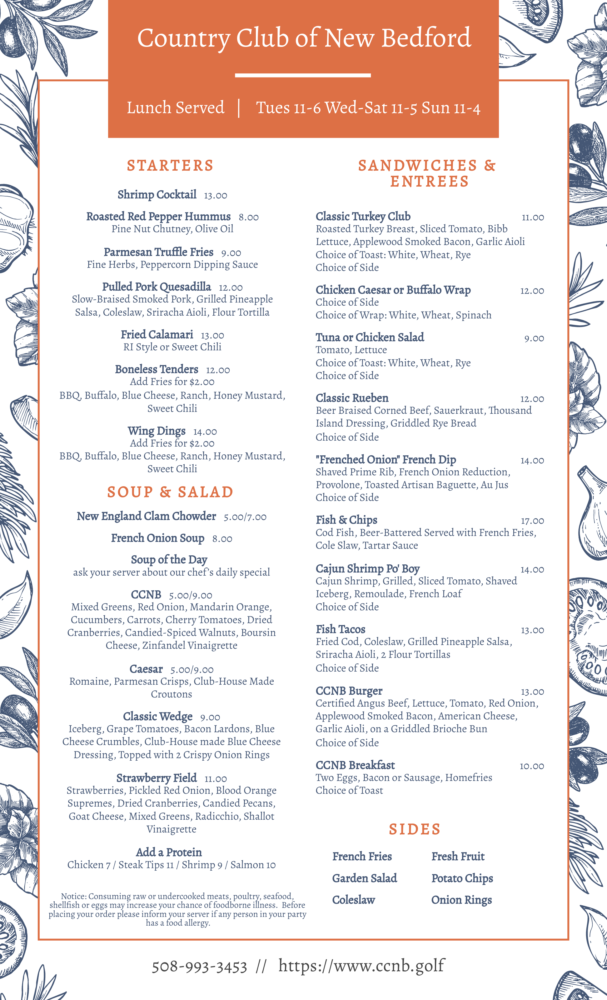 March Lunch Menu